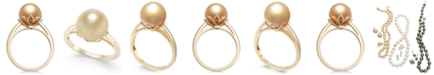 Macy's Cultured Golden South Sea Pearl (10mm) Ring in 14k Gold