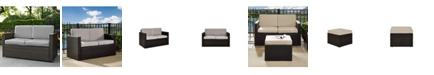 Crosley Palm Harbor Outdoor Wicker Loveseat With Cushions