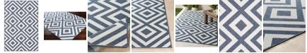 """Surya Alfresco ALF-9657 Charcoal 3' x 5'6"""" Area Rug, Indoor/Outdoor"""