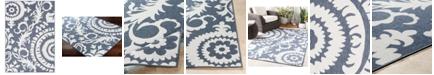 """Surya Alfresco ALF-9658 Charcoal 5'3"""" x 7'6"""" Area Rug, Indoor/Outdoor"""