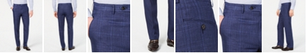 Lauren Ralph Lauren Men's Classic-Fit UltraFlex Stretch Blue Plaid Linen Suit Pants