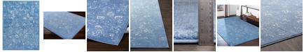 """Surya Bahar BHR-2316 Bright Blue 7'10"""" x 10'3"""" Area Rug"""