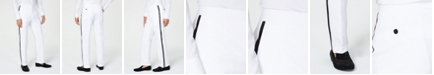 Sean John Men's Classic-Fit White Plain Tuxedo Pants