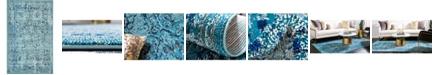 "Bridgeport Home Sana San4 Light Blue 3' 3"" x 5' 3"" Area Rug"
