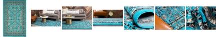 Bridgeport Home Arnav Arn1 Turquoise 5' x 8' Area Rug