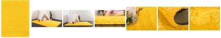 Bridgeport Home Exact Shag Exs1 Tuscan Sun Yellow 8' x 11' Area Rug