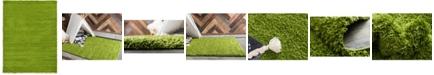 Bridgeport Home Exact Shag Exs1 Grass Green 7' x 10' Area Rug