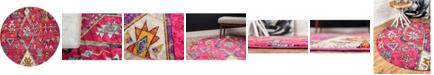 Bridgeport Home CLOSEOUT! Arcata Arc1 Pink 6' x 6' Round Area Rug