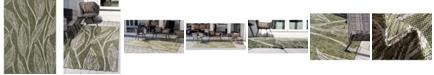 "Bridgeport Home Pashio Pas7 Green 8' x 11' 4"" Area Rug"