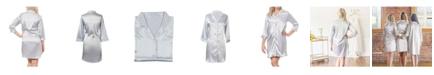 Cathy's Concepts Team Bride Silver Satin Night Shirt