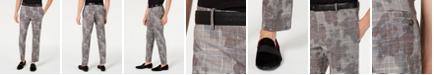 INC International Concepts I.N.C. Men's Slim-Fit Glen Plaid Camo Pants, Created for Macy's