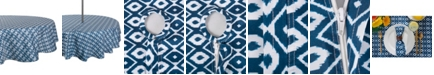 """Design Imports Ikat Outdoor Tablecloth with Zipper 52"""" Round"""