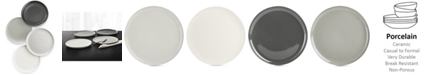 Hotel Collection Modern Ombre Dinner Plates, Set of 4, Created For Macy's