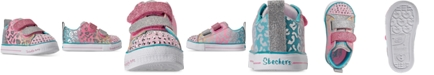 Skechers Toddler Girls Twinkle Toes Shuffle Lite Casual Sneakers from Finish Line