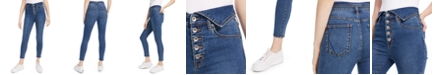 Kendall + Kylie Flipped-Waistband Skinny Jeans