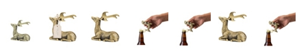 Twine Rustic Holiday Gilded Deer Bottle Opener