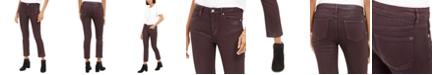 Vigoss Jeans Burgundy Coated Straight-Leg Jeans