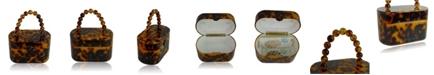 Milanblocks 80's Vintage-Like Tortoise Acrylic Lunch Box Clutch Bag