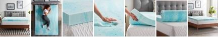 """Lucid 4"""" Gel Swirl Memory Foam Mattress Topper, Twin XL"""