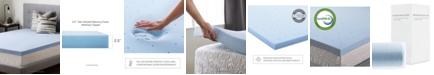 """Brookside 2.5"""" Gel Infused Memory Foam Mattress Topper, Twin"""