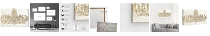 "Oliver Gal Glam Chandelier Canvas Art, 45"" x 30"""