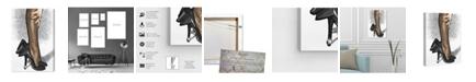"Oliver Gal Black Satin Canvas Art, 10"" x 15"""