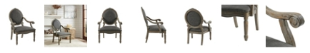 Furniture Rory Fabric Oval Back Accent Chair, Quick Ship