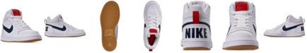 Nike Big Boys Court Borough Mid Stay-Put Closure Casual Sneakers from Finish Line