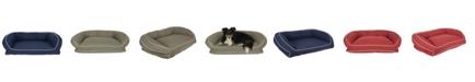 Carolina Pet Company Orthopedic Classic Canvas Bolster Bed, Contrast Cording
