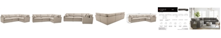 "Furniture Joud 4-Pc. Fabric ""L"" Shaped Modular Sofa, Created for Macy's"