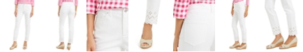 Charter Club Eyelet-Ankle White Jeans, Created for Macy's