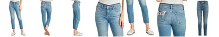 Sam Edelman The Kitten Mid Rise Straight-Leg Ankle Jeans