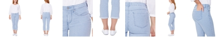 NYDJ Chloe Railroad-Striped Tummy-Control Capri Jeans