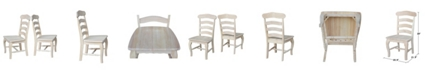 International Concepts Country French Chairs with Solid Seats, Set of 2