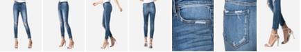 VERVET Mid Rise Raw Hem Skinny Ankle Jeans
