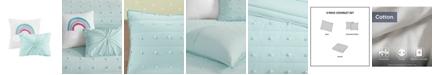 Urban Habitat Callie Twin/Twin XL 4 Piece Cotton Jacquard Pom Pom Coverlet Set
