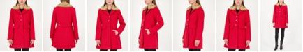 kate spade new york Faux-Fur Trim Walker Coat, Created for Macy's