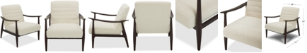 """Furniture Lylie 29"""" Fabric Accent Chair, Created for Macy's"""