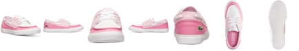 Lacoste Little Girls' Keel CLC Casual Sneakers from Finish Line
