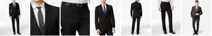 Calvin Klein Solid Wool Black Slim X Fit Suit