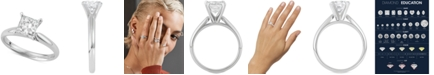 Macy's Star Signature Diamond Princess Cut Solitaire Engagement Ring (1-1/2 ct. t.w.) in 14k White Gold