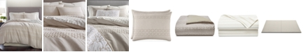 Martha Stewart Collection CLOSEOUT! Eyelet Stripe Cotton 8-Pc. Queen Comforter Set, Created for Macy's