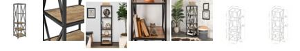 """Walker Edison 61"""" Metal Wood Bookcase"""