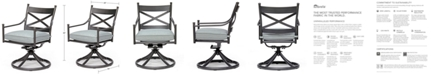 Furniture Montclaire Outdoor Swivel Chair With Sunbrella® Cushion, Created for Macy's