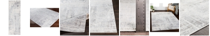 """Surya Genesis GNS-2306 Silver Gray 2'7"""" x 7'6"""" Runner Area Rug"""