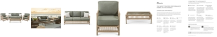 Furniture Lavena Outdoor 4-Pc. Seating Set (1 Sofa, 2 Club Chairs & 1 Coffee Table) with Sunbrella® Cushions, Created for Macy's