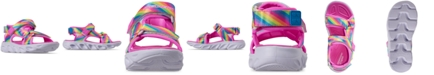 Skechers Little Girls' Hypno-Splash - Rainbow Lights Light-Up Athletic Sandals from Finish Line