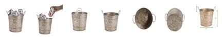 Mind Reader Cooper Plated Galvanized Ice Bucket