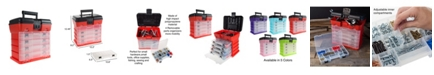 Trademark Global Storage and Tool Box - Durable organizer Utility Box - 4 Drawers with 19 Compartments Each by Stalwart
