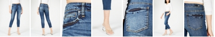 Kut from the Kloth Catherine Frayed Hem Ankle Straight Jeans